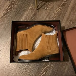 coach Bowery boots in tan suede sz 7